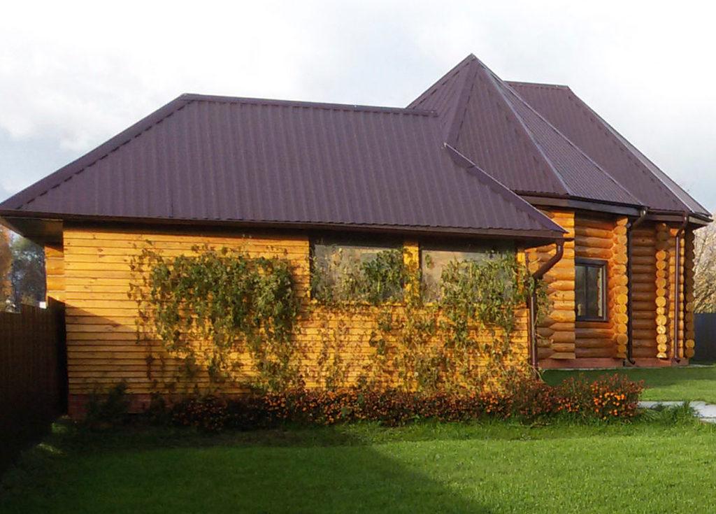 Загородный деревянный комплекс (дом+баня с беседкой)