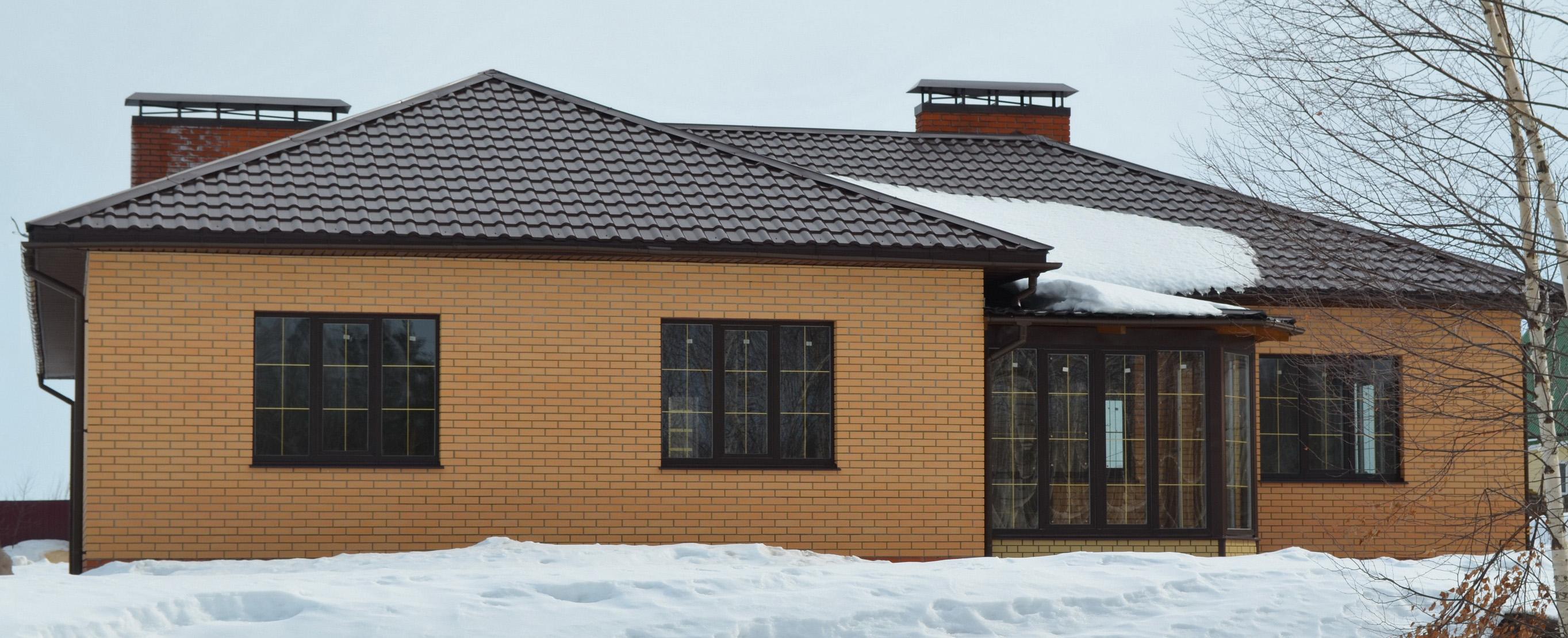 Строительство домов в республике Марий Эл: одноэтажный кирпичный коттедж
